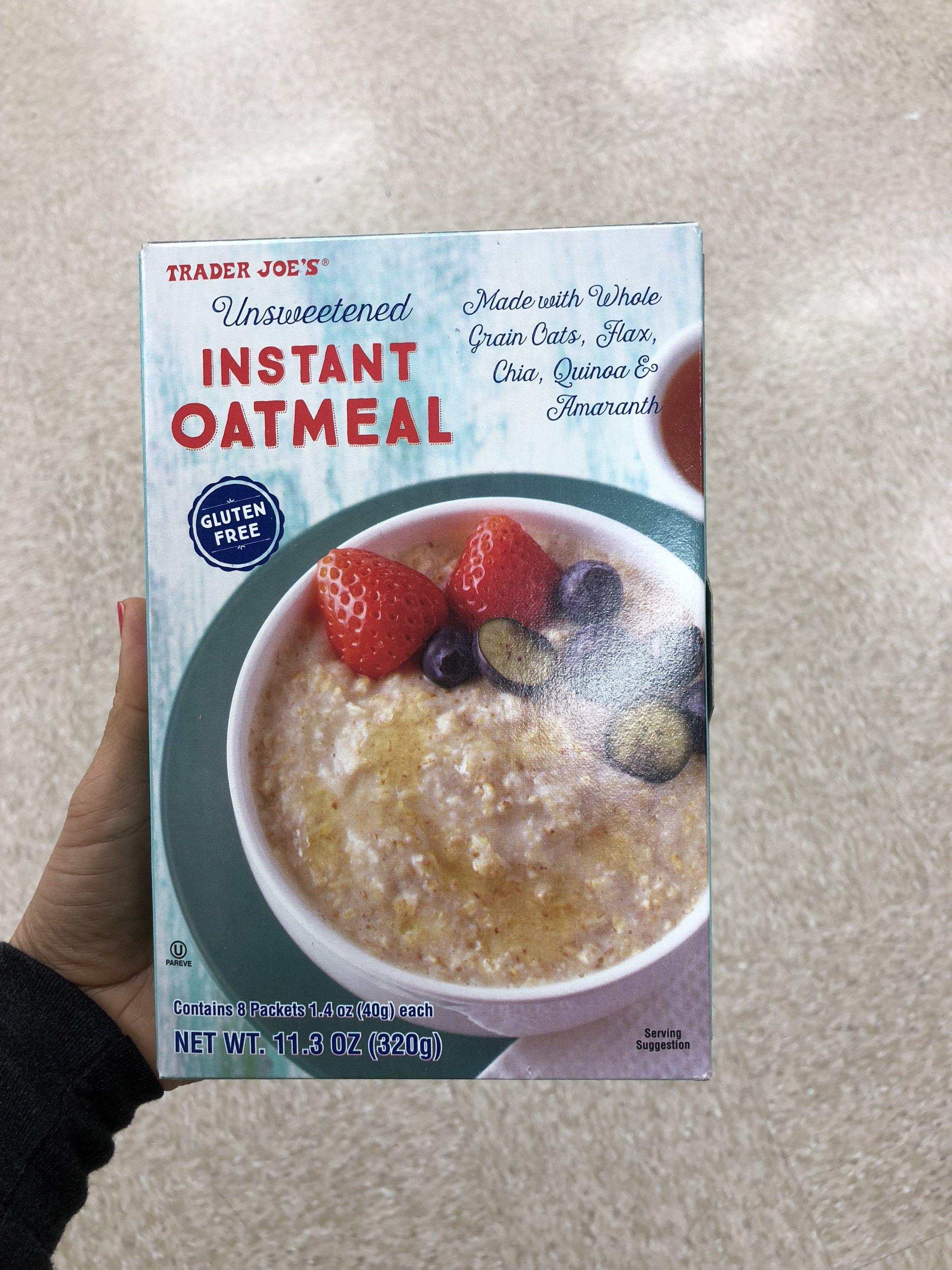 Unsweetened Instant Oatmeal .JPG