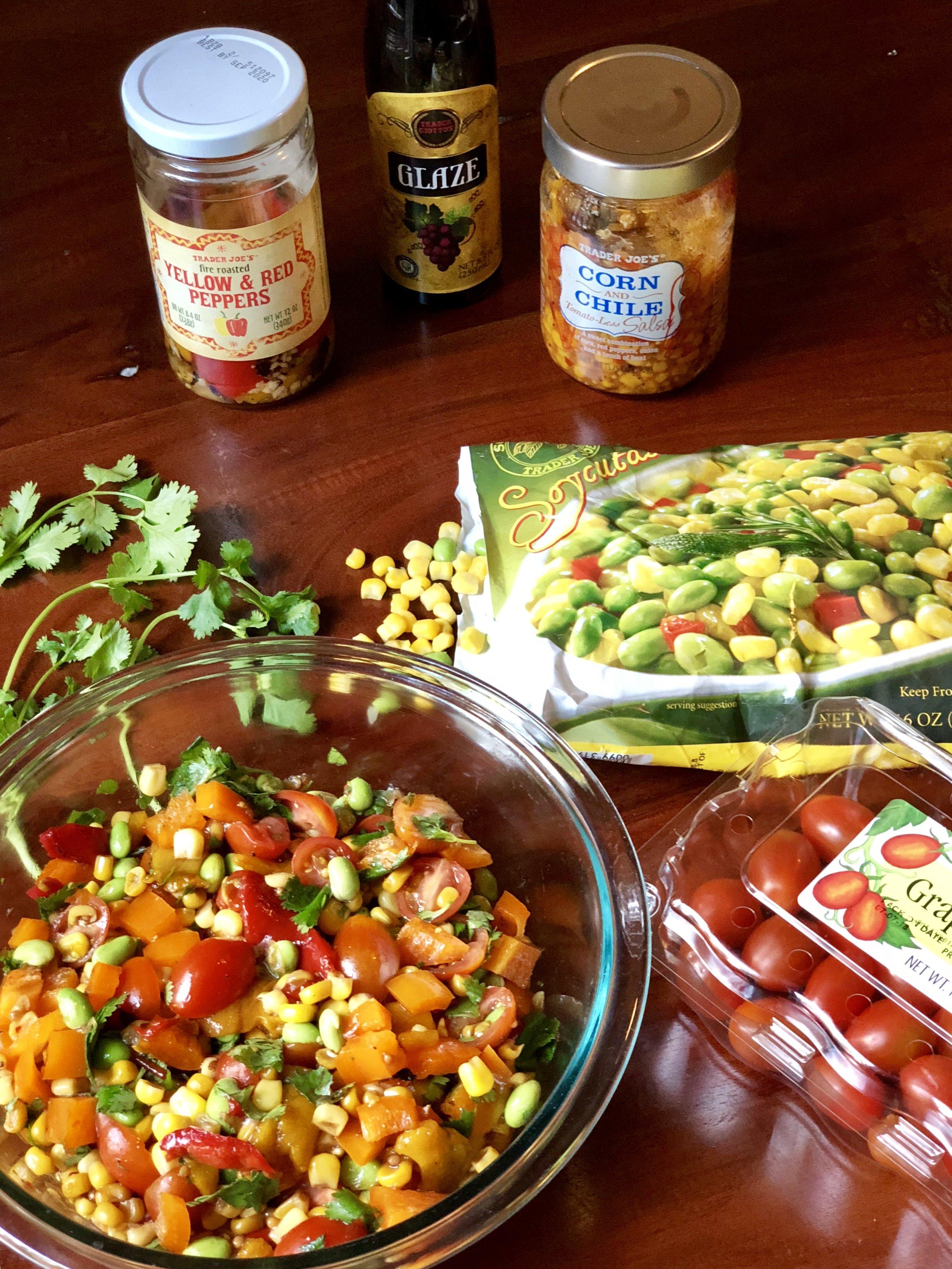 AAY Nutrition Southwestern Corn and Edamame Salad