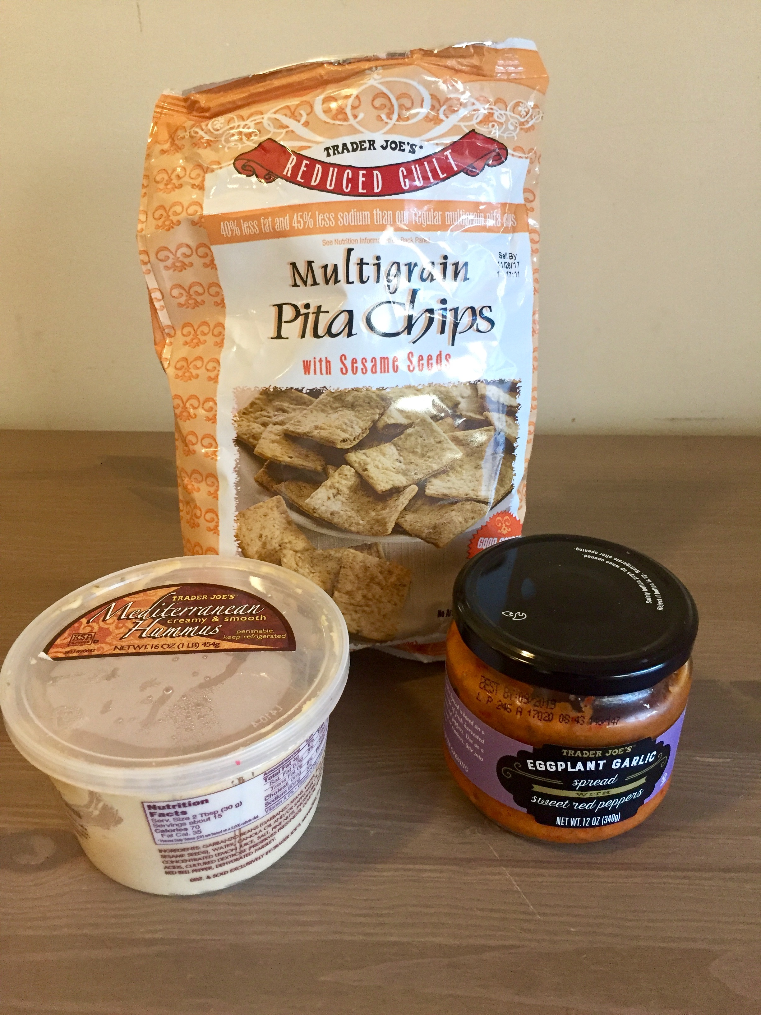AAY Nutrition Trader Joe's Hummus & Eggplant Dip