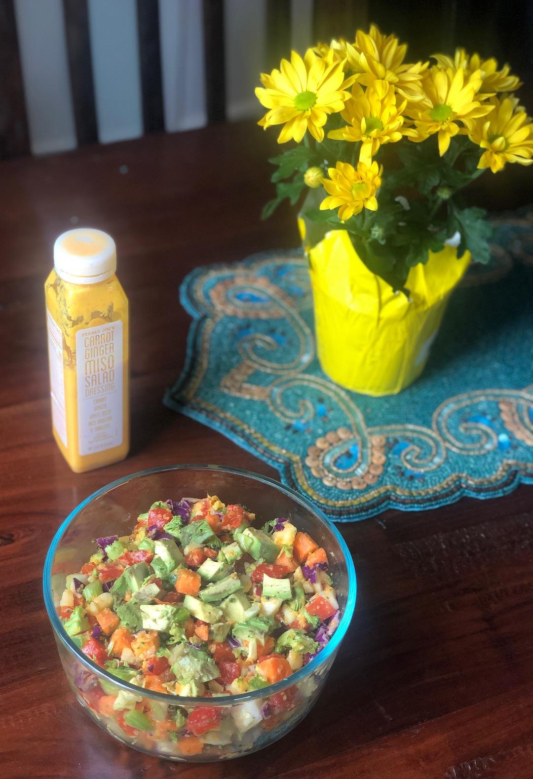 AAY Nutrition Trader Joe's Carrot Ginger Salad Dish