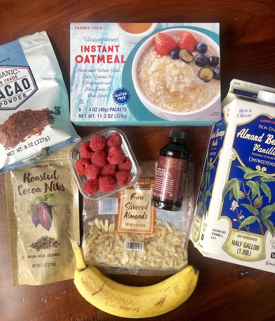 Healthy Eating at Trader Joes | Hot Cocoa Oatmeal | Ingredients