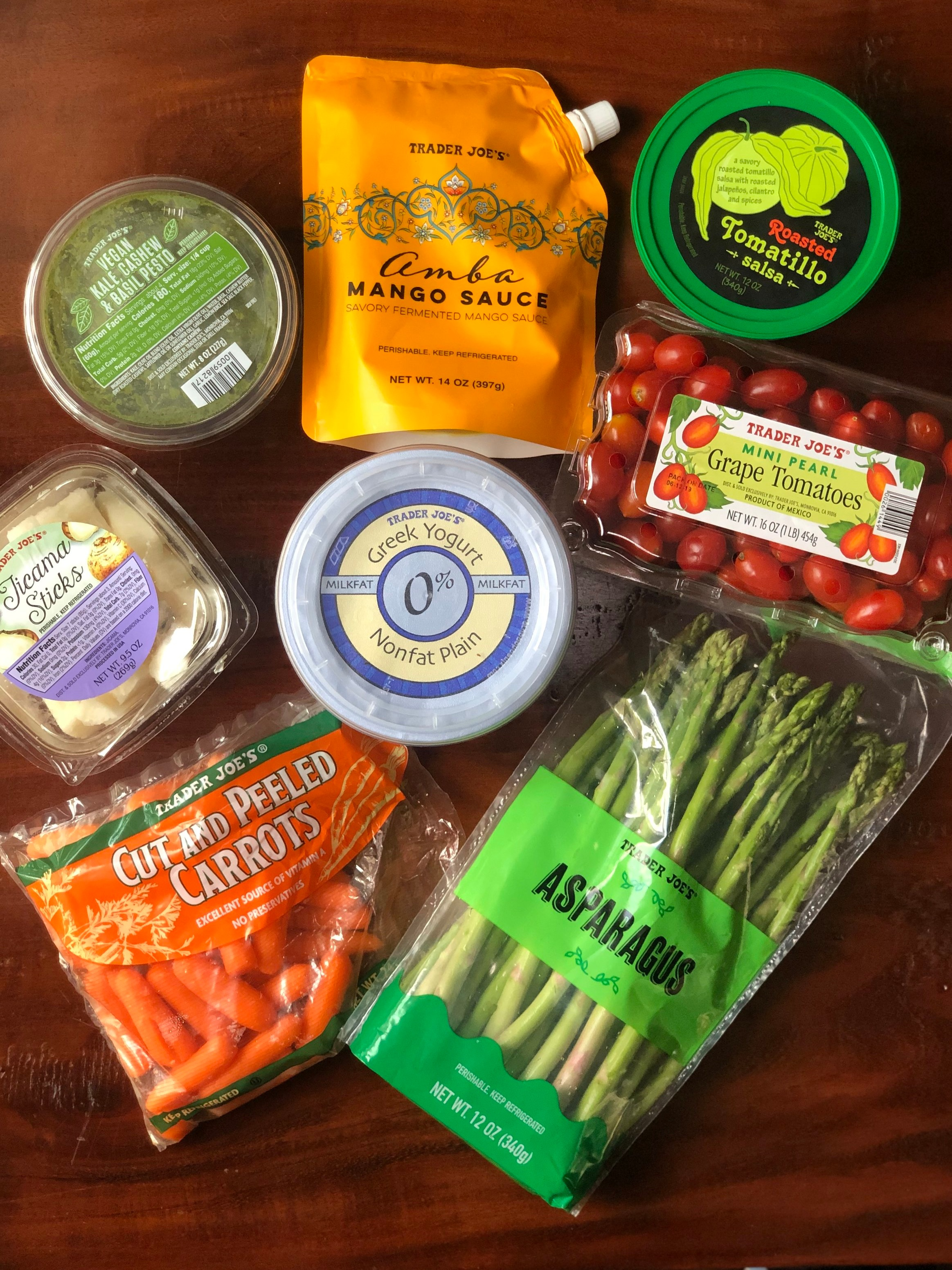 Healthy Eating at Trader Joes | Veggie Dip Ingredients