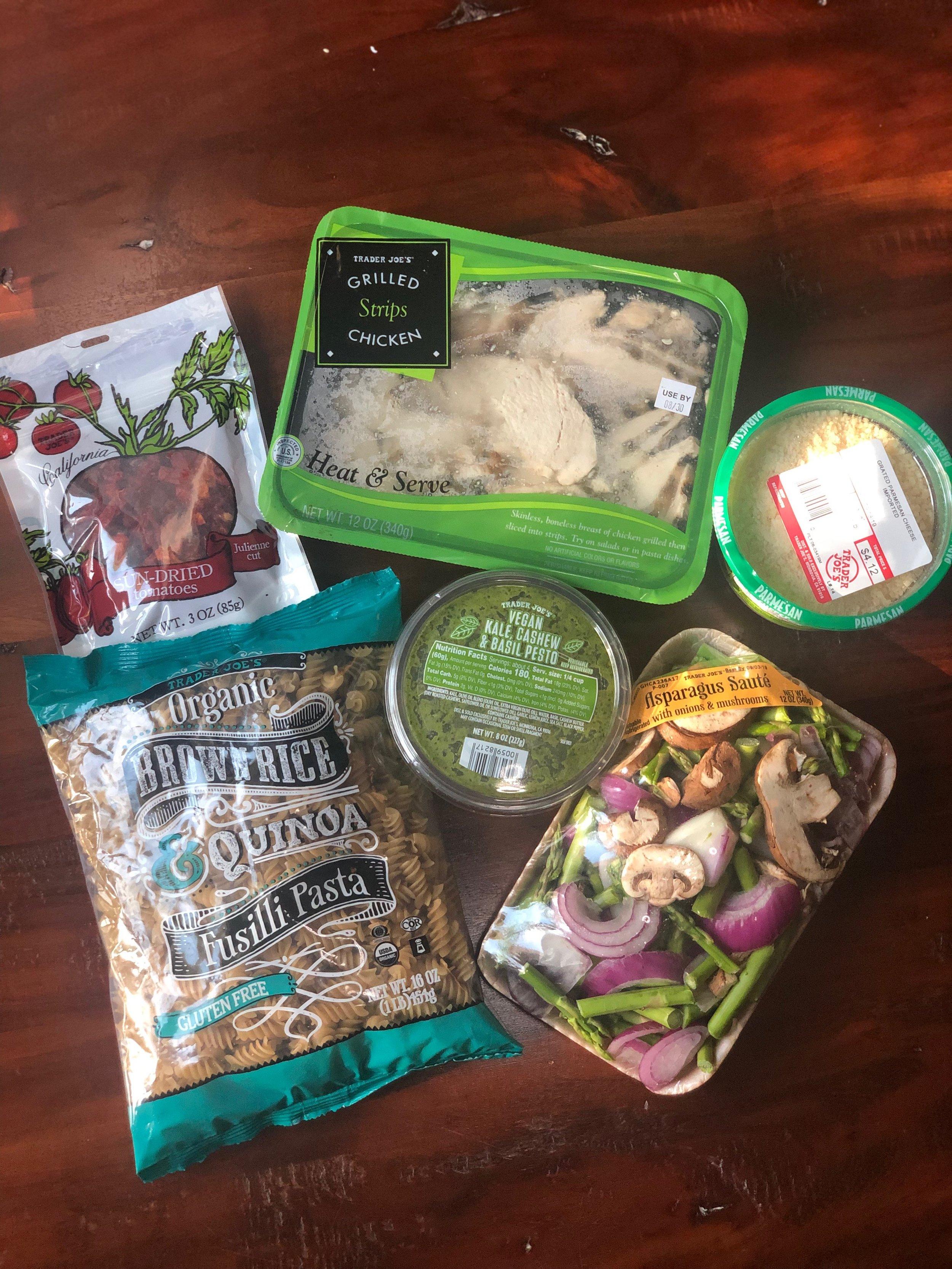 Healthy Eating at Trader Joe's | Chicken Asparagus Pesto Pasta Recipe with Trader Joe's Vegan Kale, Cashew & Basil Pesto