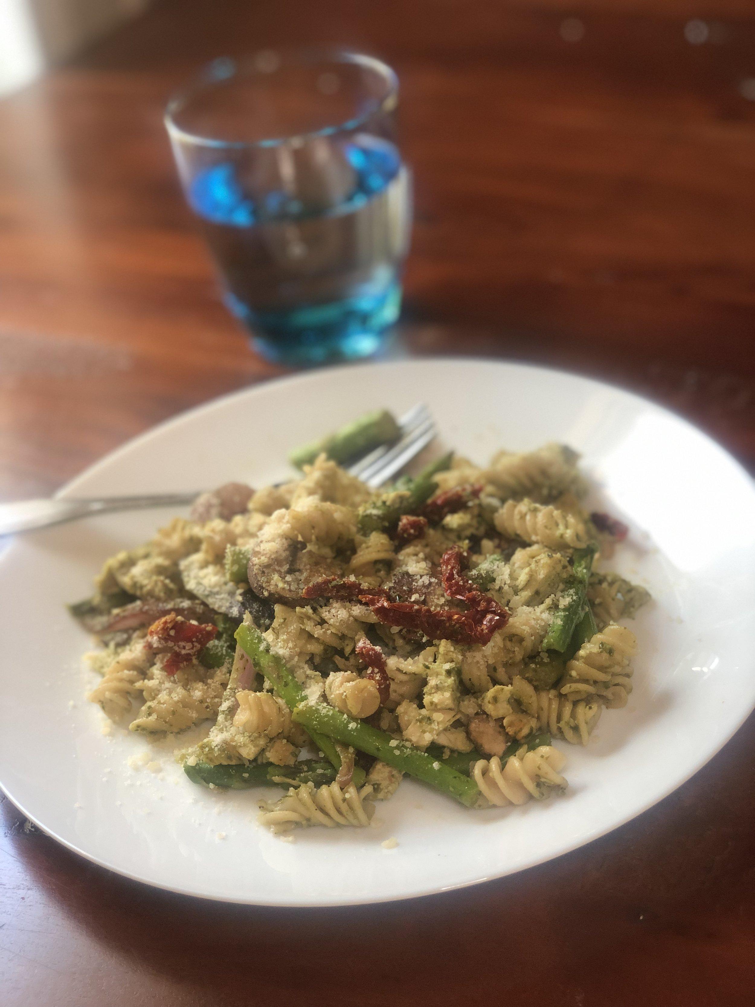 Healthy Eating at Trader Joe's | Pesto Pasta Recipe