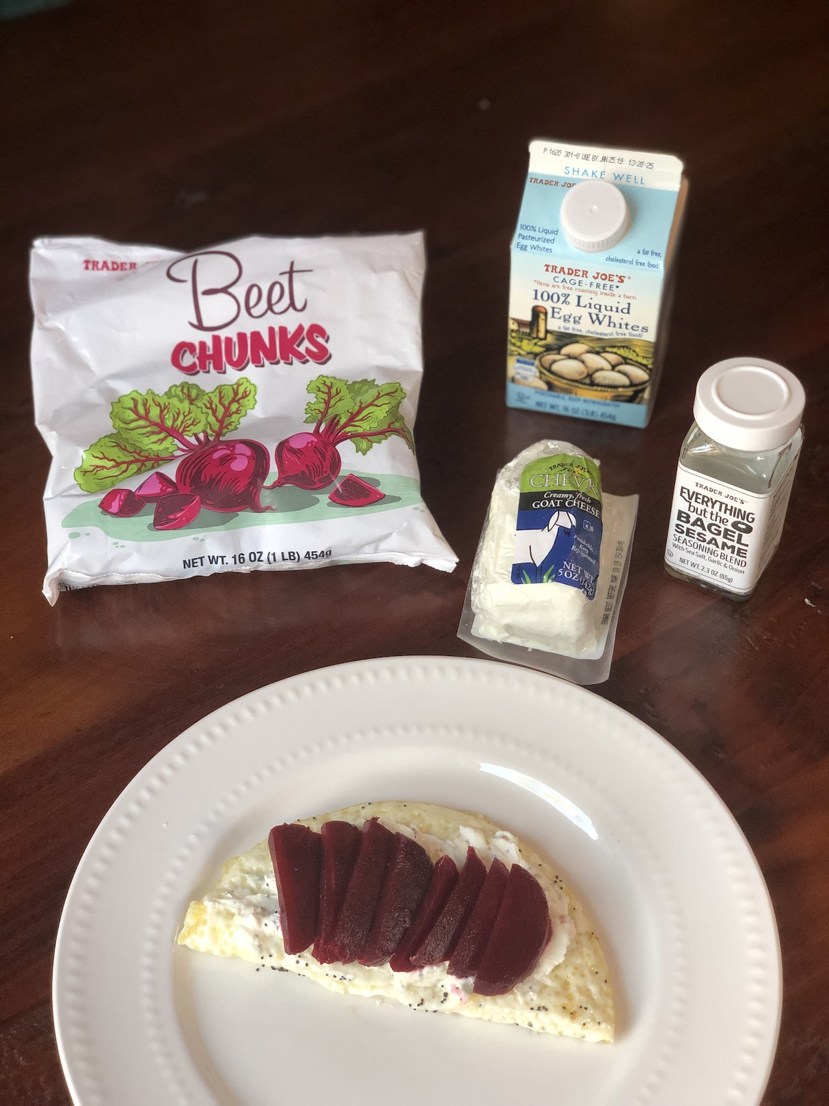AAY Nutrition Recipe Trader Joe's Beet and Goat Cheese Egg White