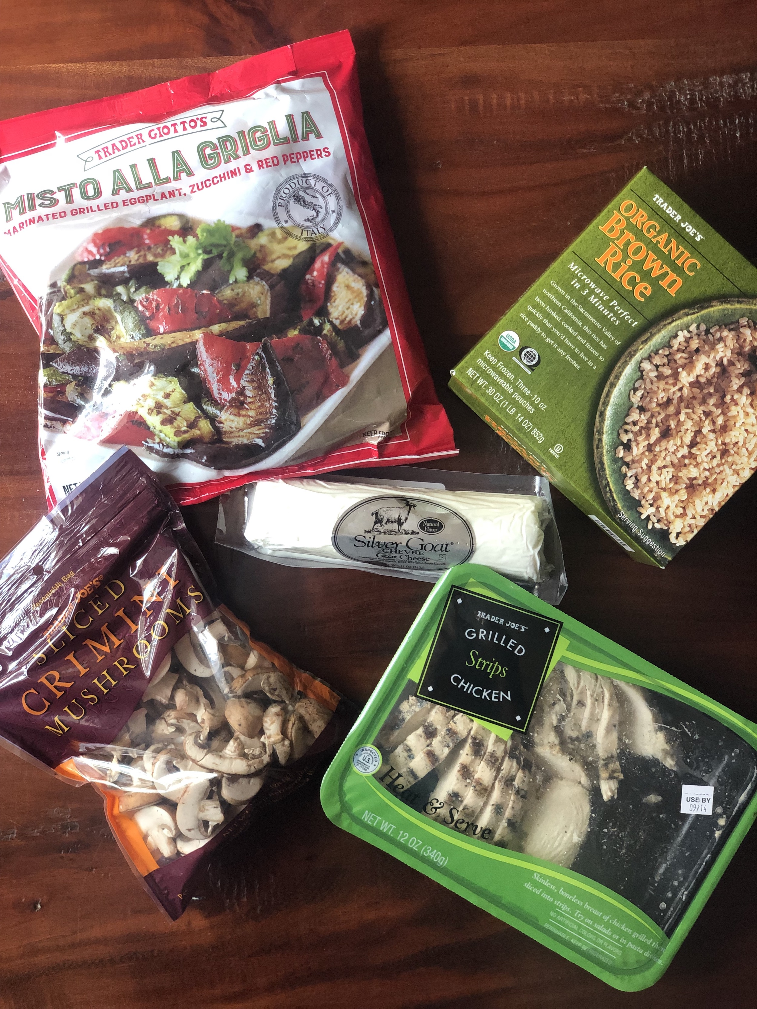 Healthy Eating at Trader Joes | Creamy Chicken and Vegetable Stir-Fry | Ingredients