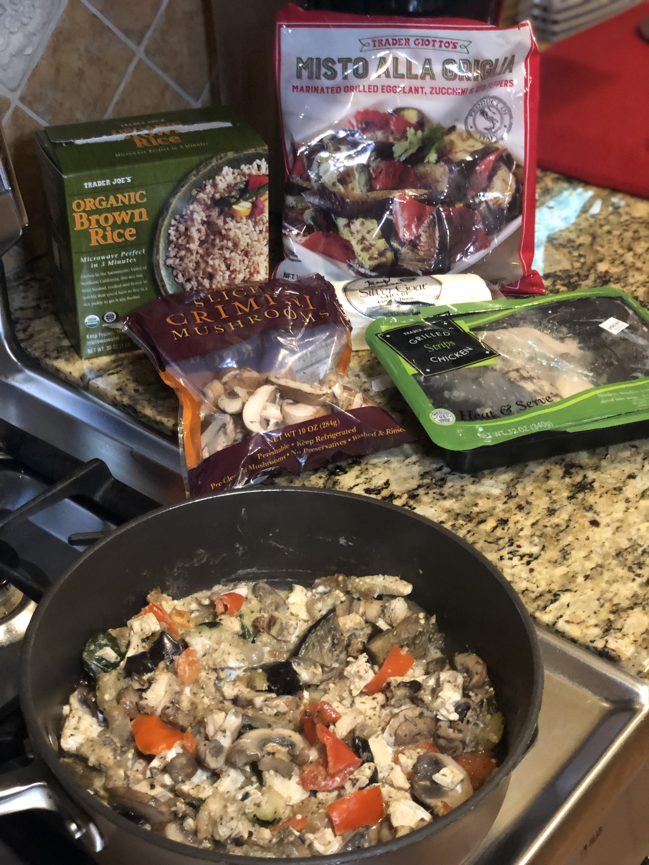 Healthy Eating at Trader Joes | Creamy Chicken and Vegetable Stir-Fry | Cook Ingredients
