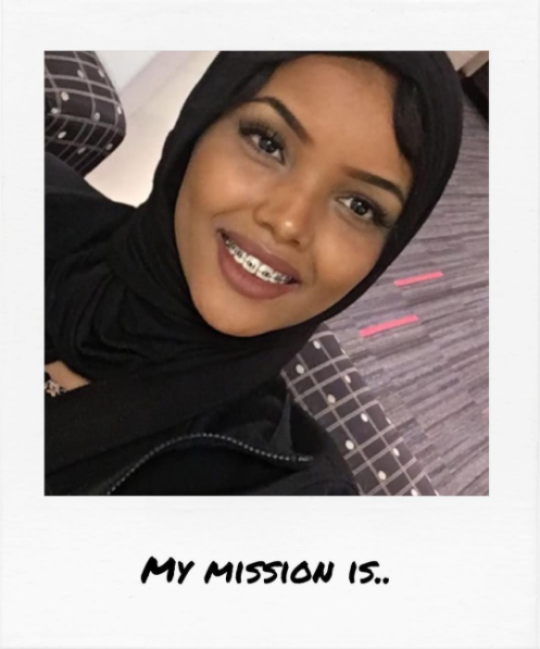 "Halima Aden    ""..to promote peace and equality for all and send the message that beauty is not one description."""