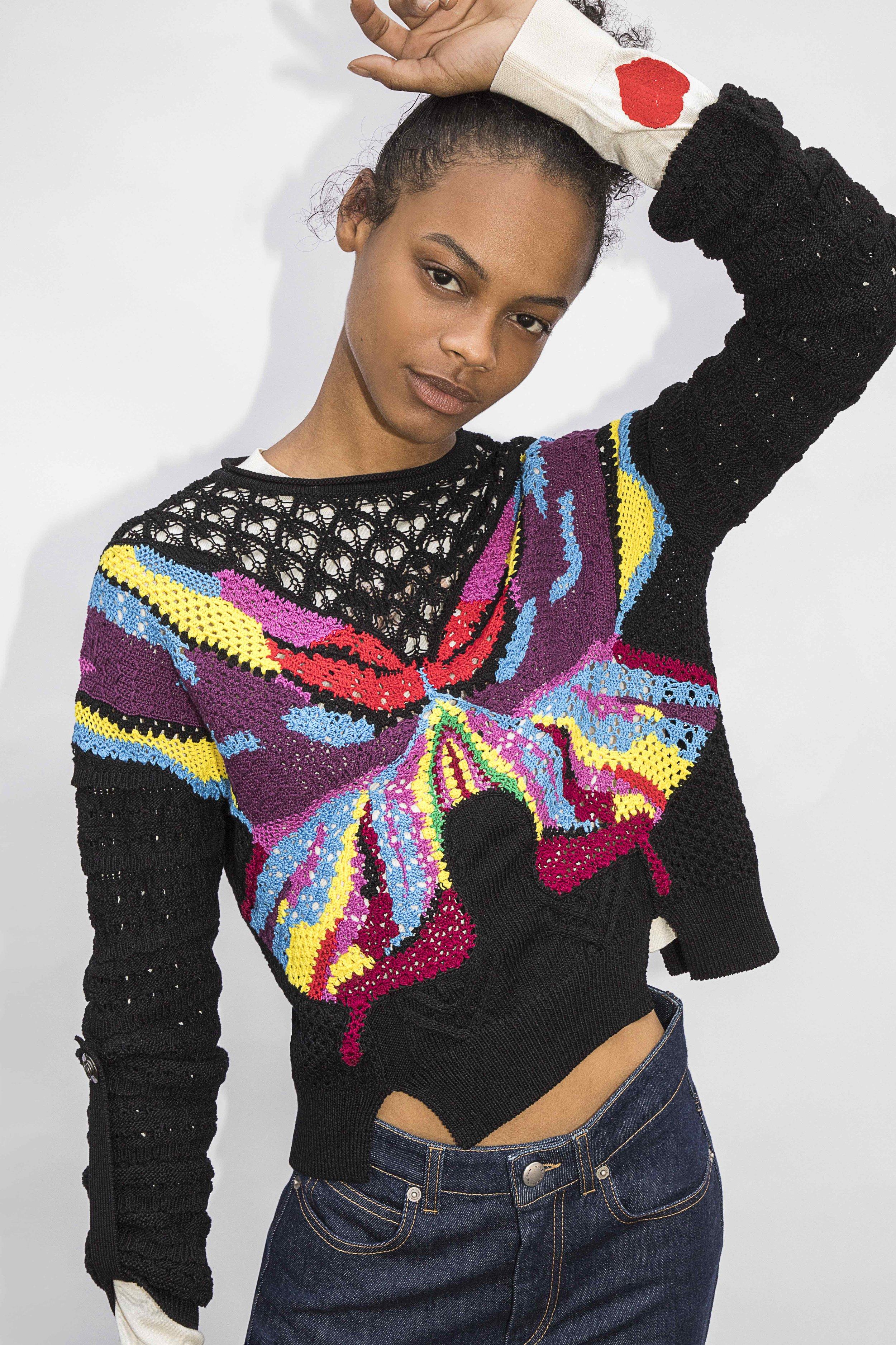 Sophia Boutella's design for Generous Sweaters/Sonia Rykiel.
