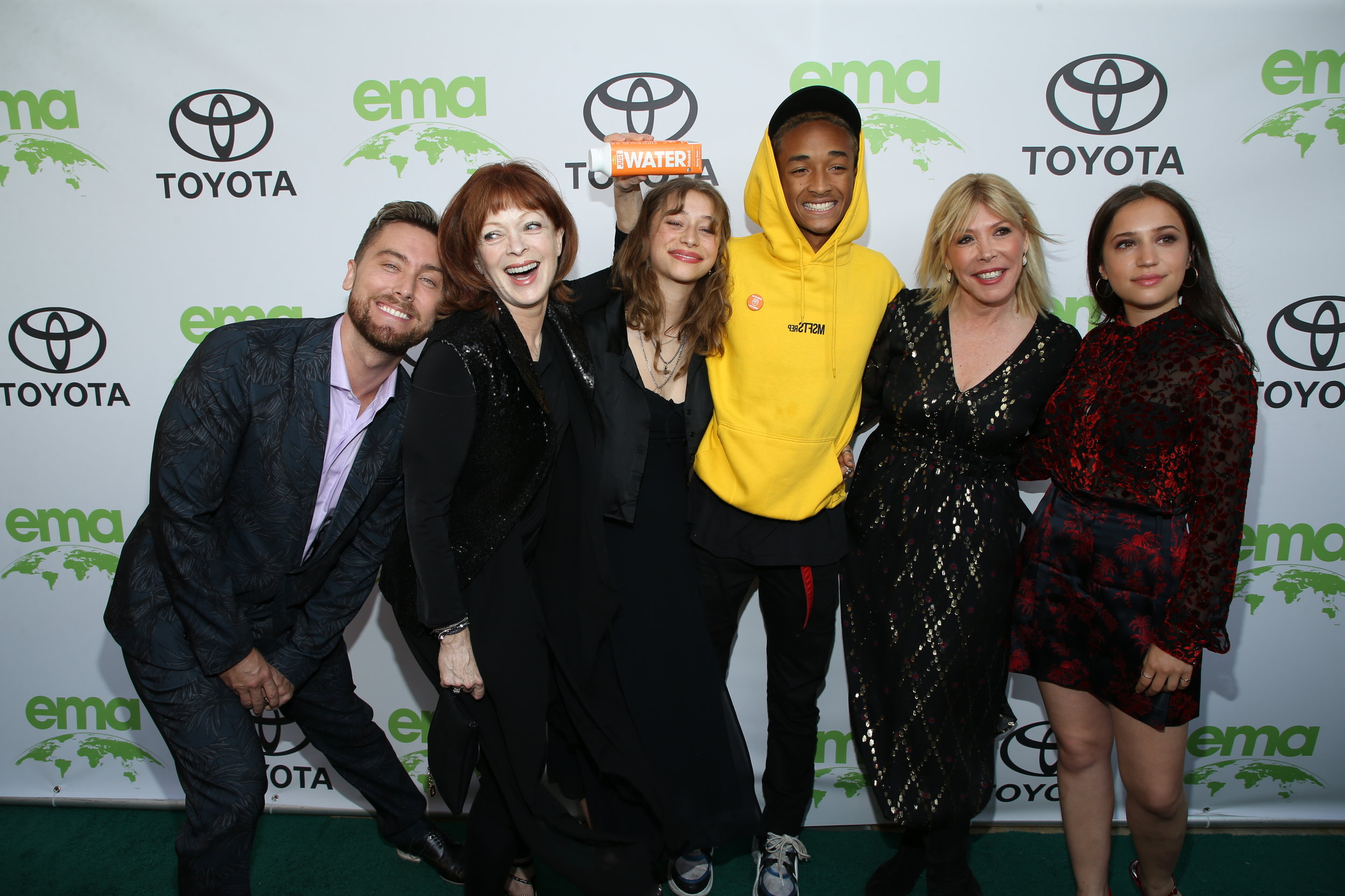 From left to right, Lance Bass, Frances Fisher, Odessa Adlon, Jaden Smith, Debbie Levin and Gideon Adlon. All photographs are courtesy of EMA.