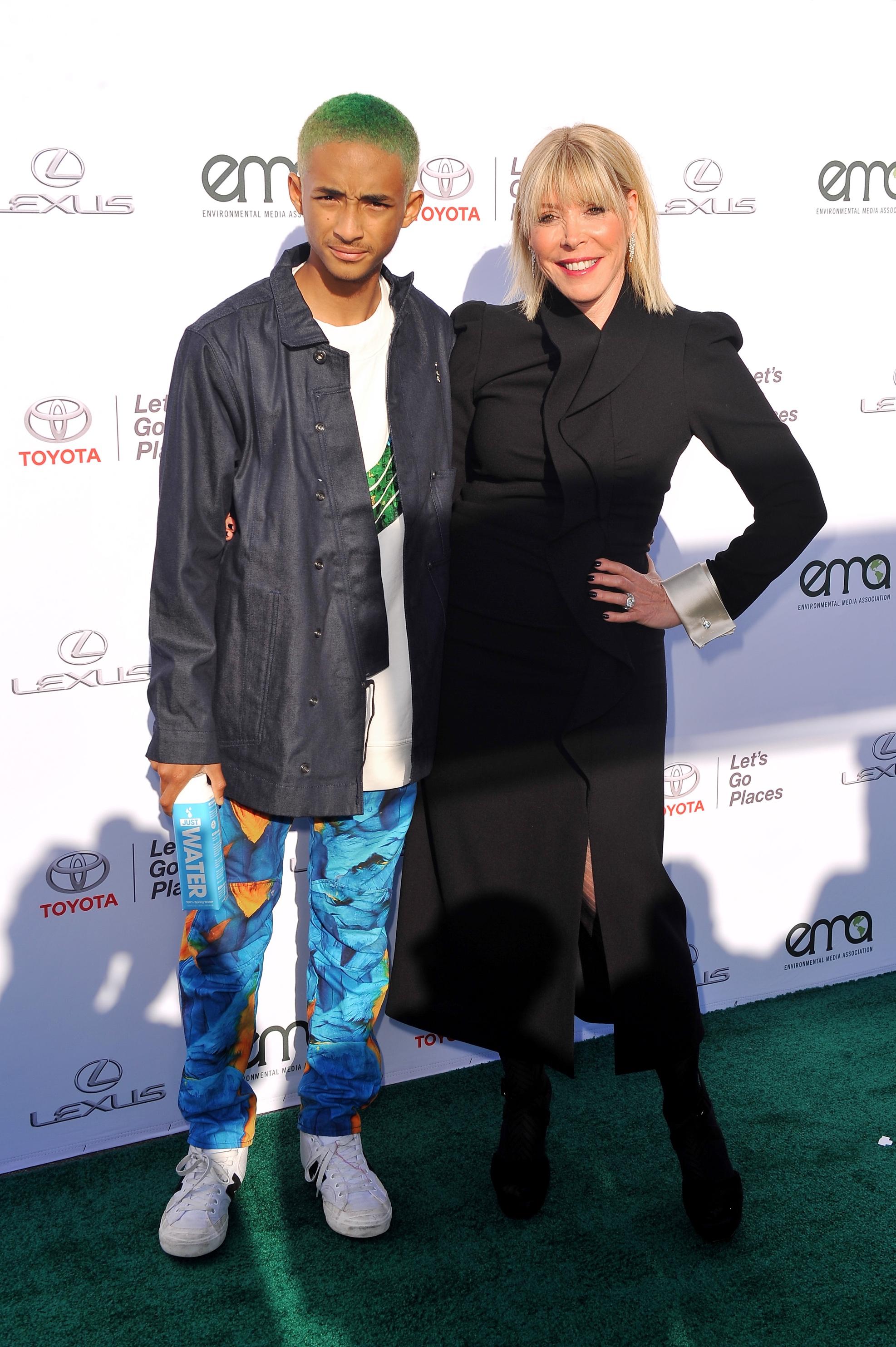 Founder Debbie Levin with Jaden Smith.