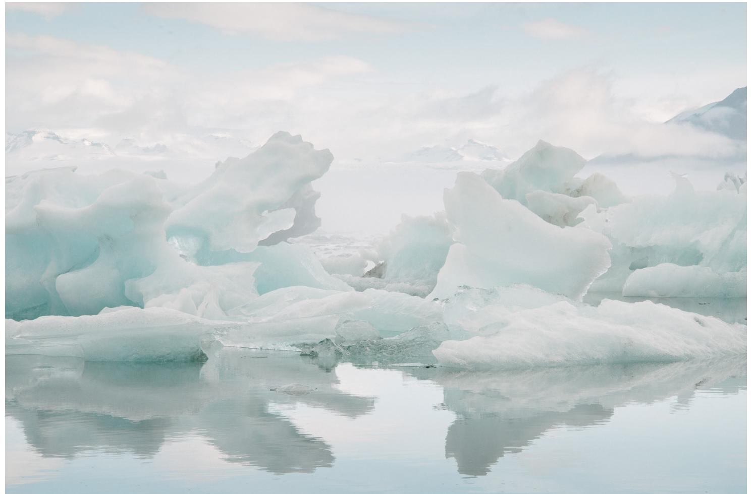 An iceberg in IIulissat, Greenland's famous Ice Fjord.