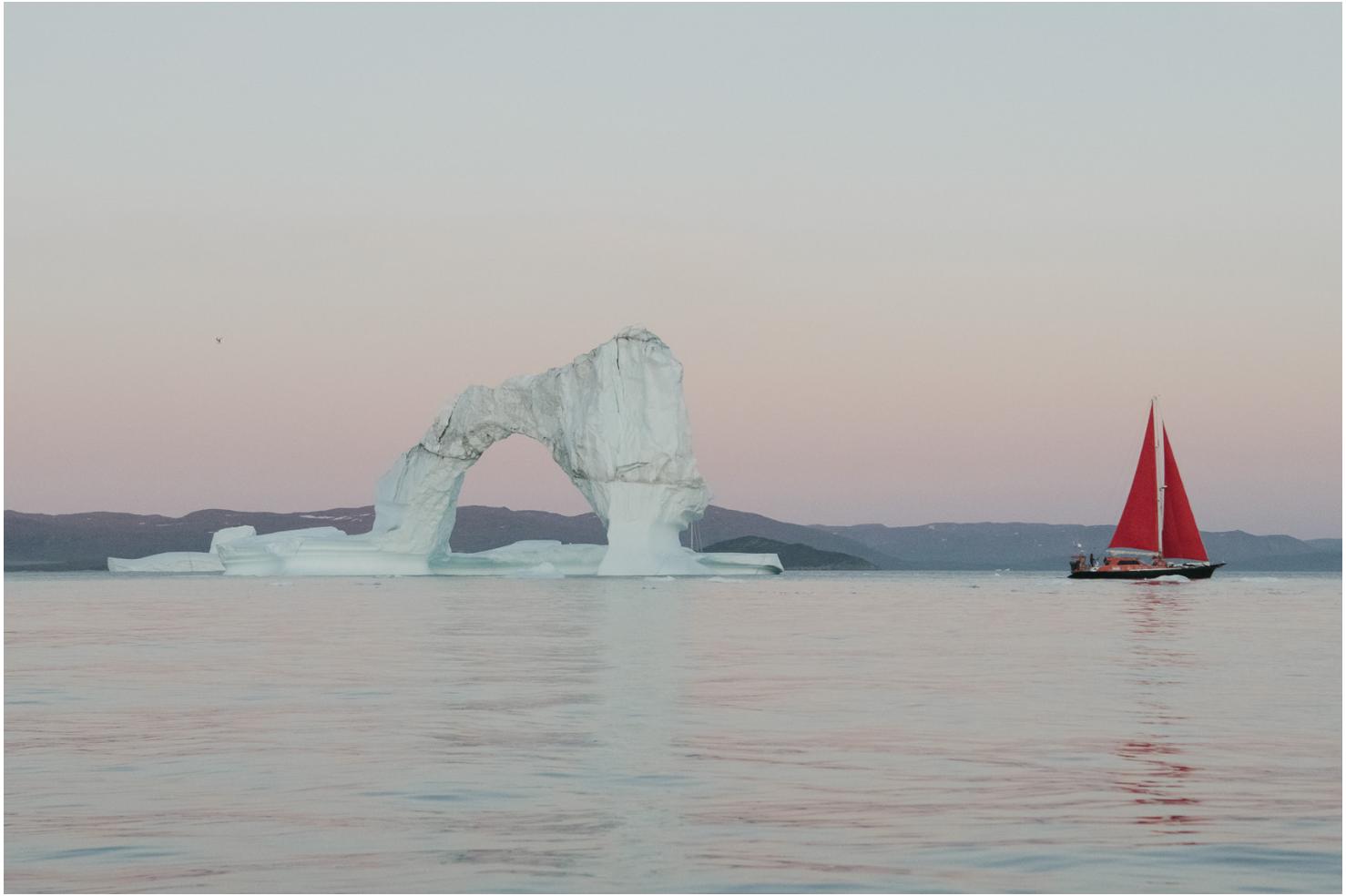 An iceberg in IIulissat, Greenland.