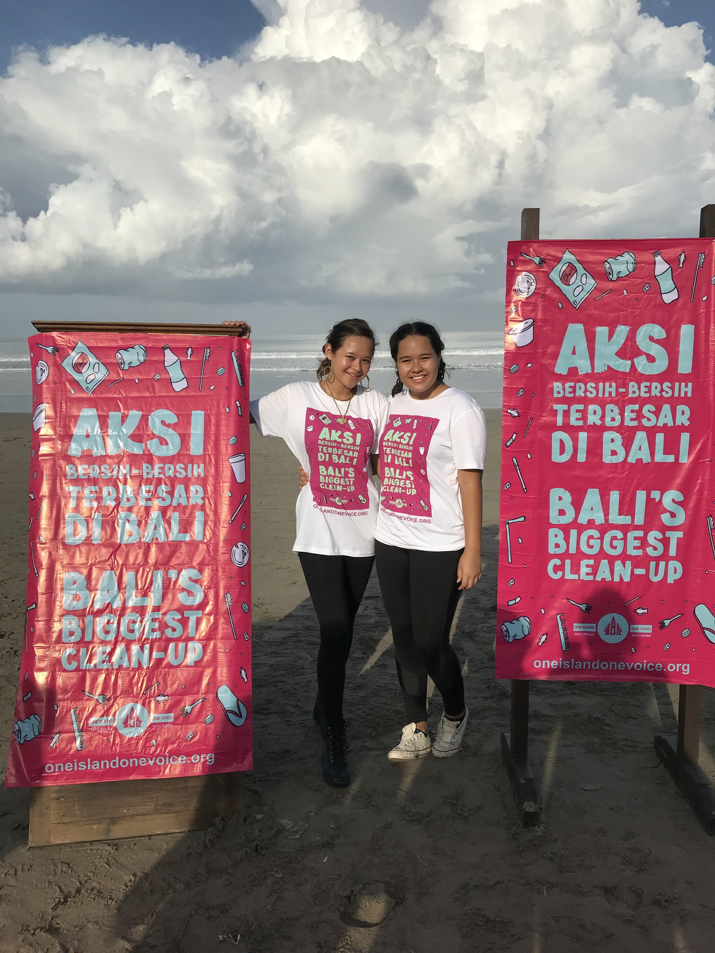 BBPB worked with  One Island One Voice  for Bali's biggest ocean clean up, 20,000 people came out to join Melati and Isabel. It resulted in 65 tons of waste collected.