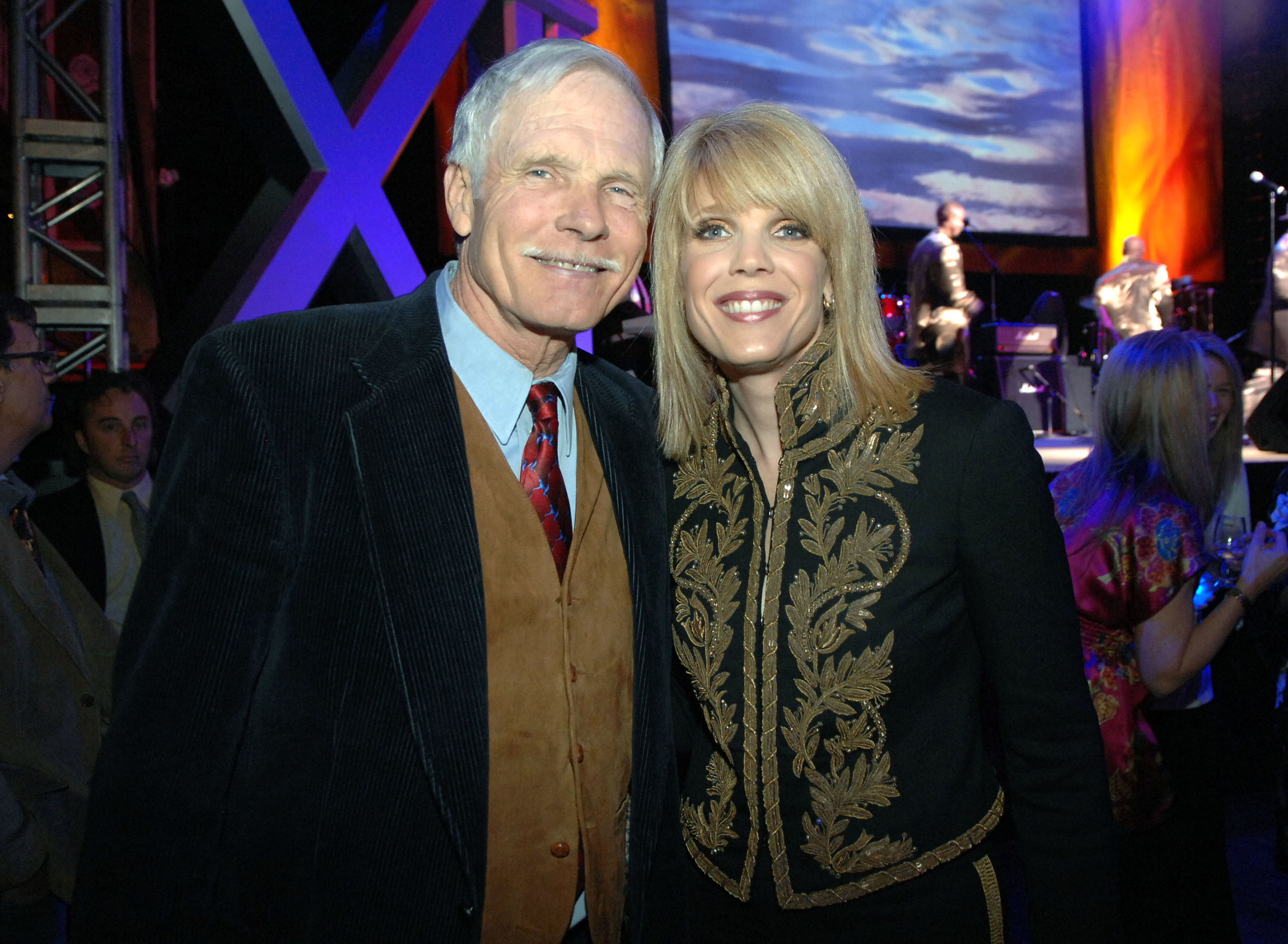 Laura Turner Seydel with her father Ted Turner.