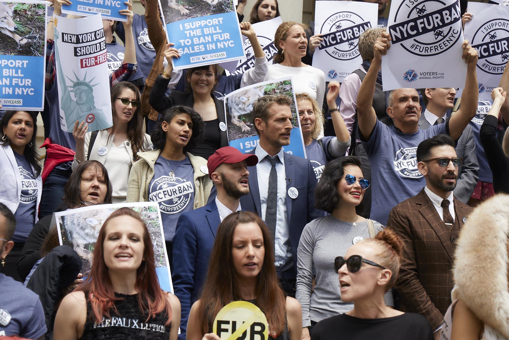 NYC Fur Ban march.