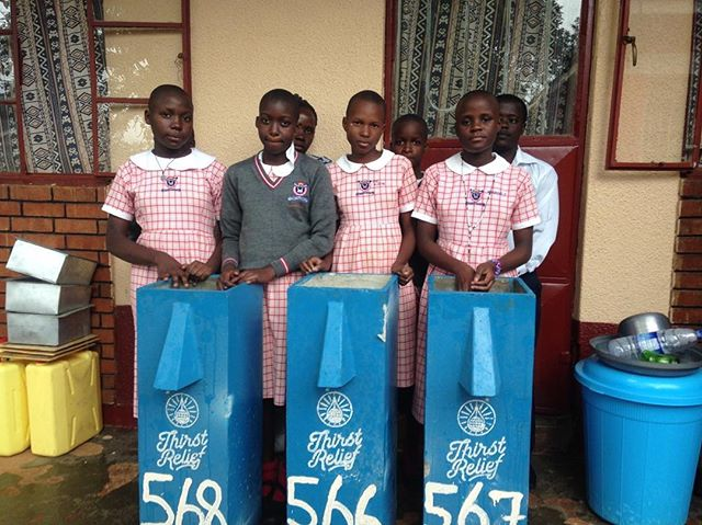These are just a few of the 850 students at Bright Future Primary School in Uganda. Last month you helped fund 3 new BioSand filters for these kids, who used to suffer from Typhoid despite boiling their water at school. Now with these filters, the students are free of Typhoid and have more time to focus on learning!