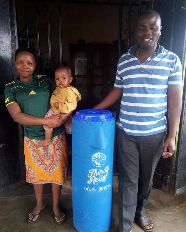 Peter and Jenipha are local entrepreneurs in the Morogoro Region of Tanzania. Last month your donations helped to provide them and their daughter with 25 years of clean water!