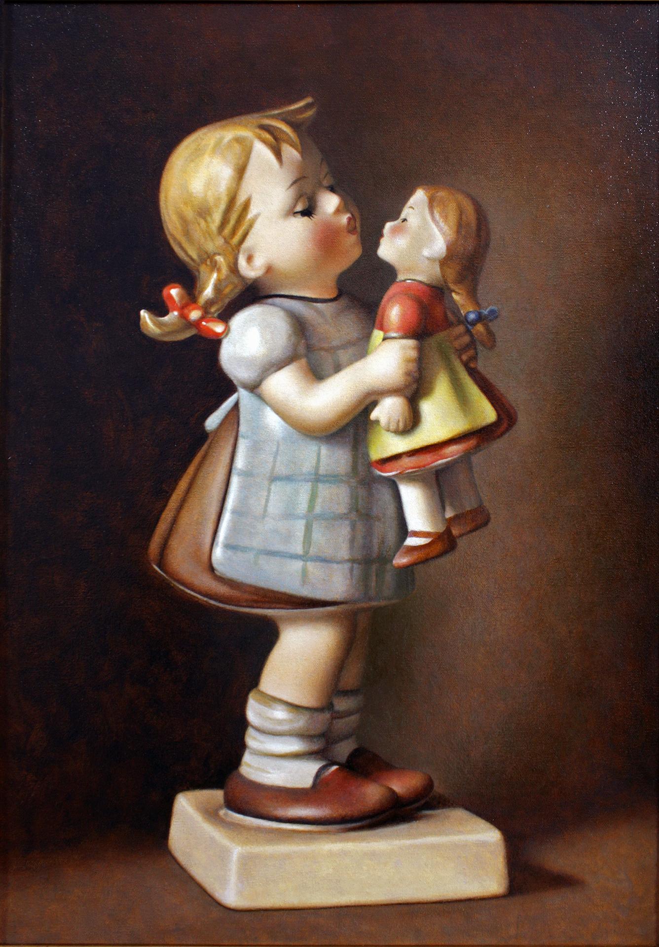 "Kiss Me, oil on canvas, 18"" x 26"", 2015"
