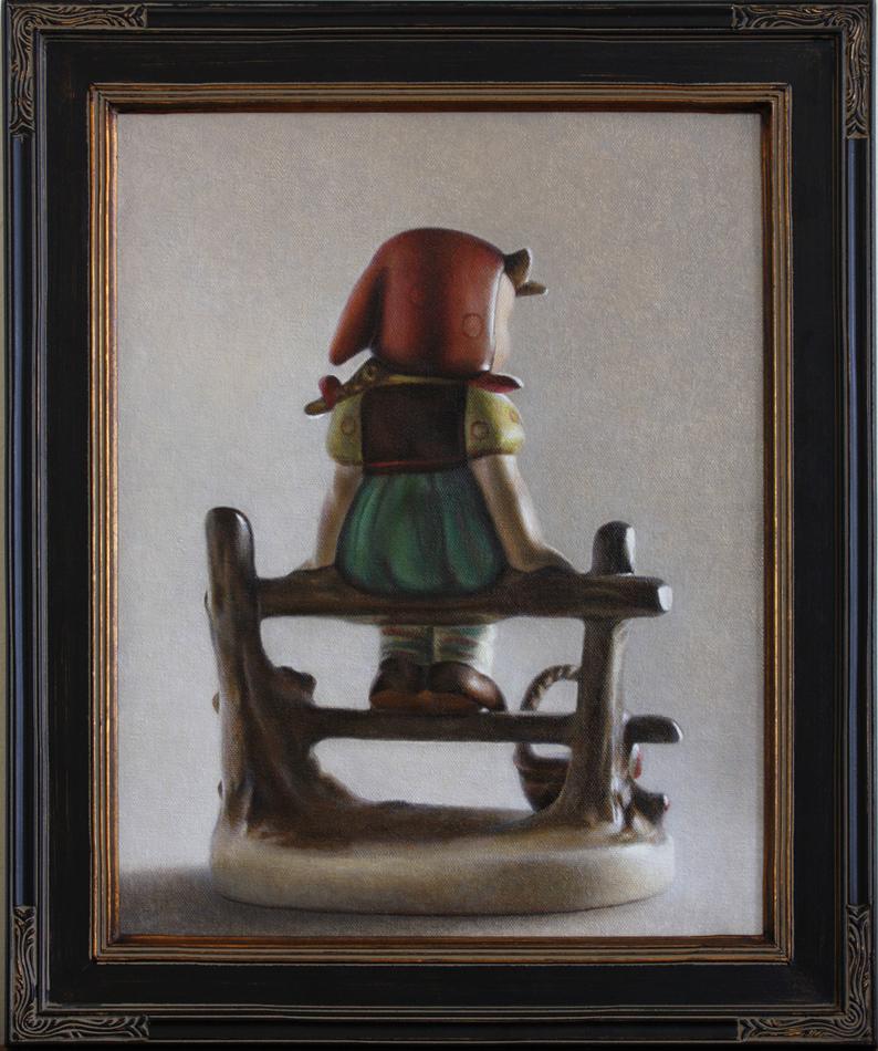 "Untitled (Hummel), oil on canvas, 14"" x 17"", 2014"