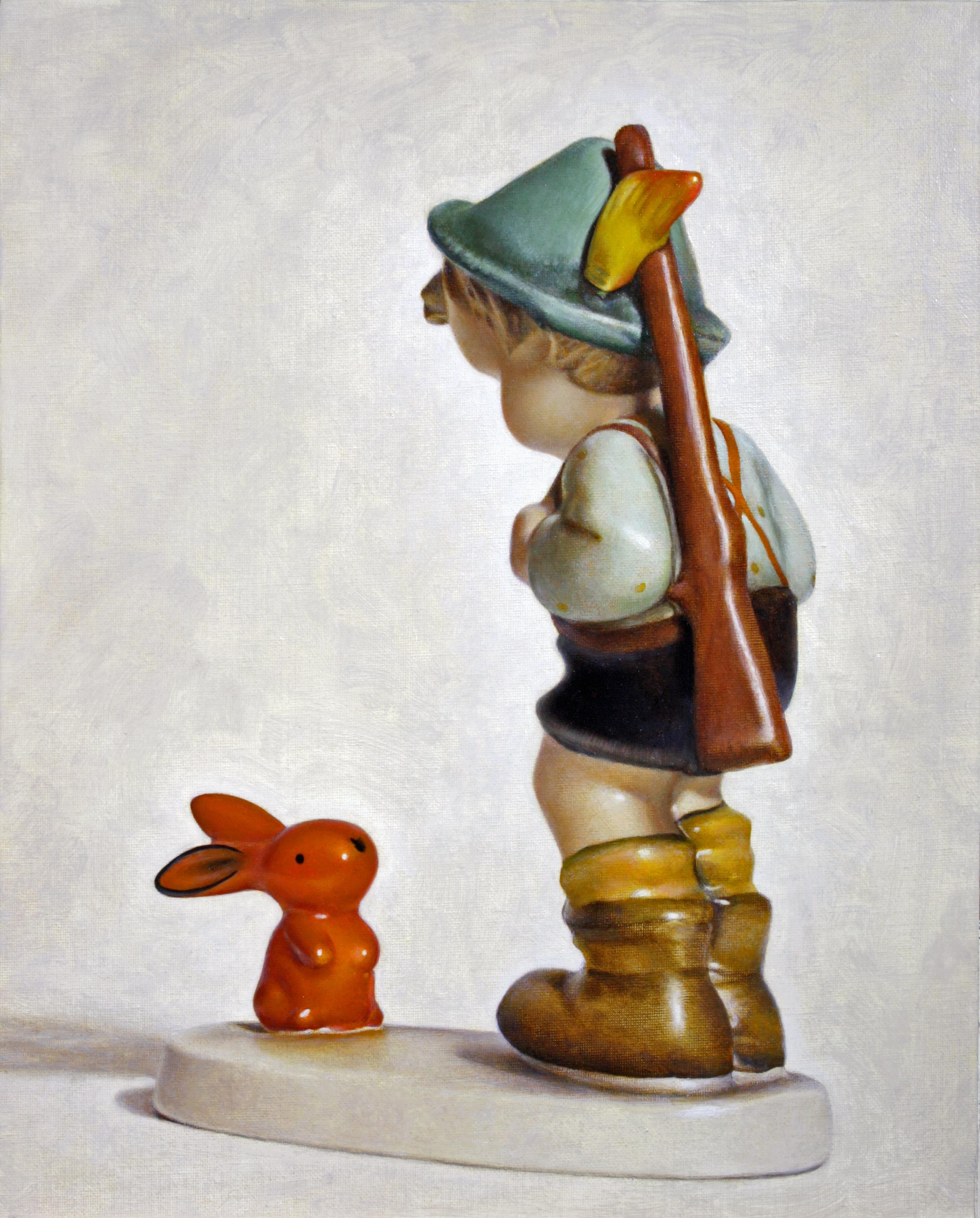 "Sensitive Hunter, oil on canvas, 20"" x 24"", 2015"