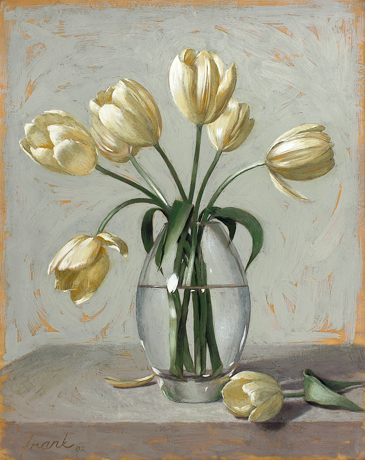 Yellow Tulips, encaustic beeswax on wood panel, 20%22x16%22 ©Kevin Frank.jpg