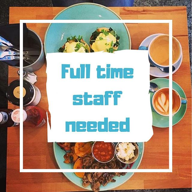 Get in touch! We have full time FOH positions available. Contact us through the website or drop in your CV #job #vacancies #barista #baristajobs #baristajob #recruiting