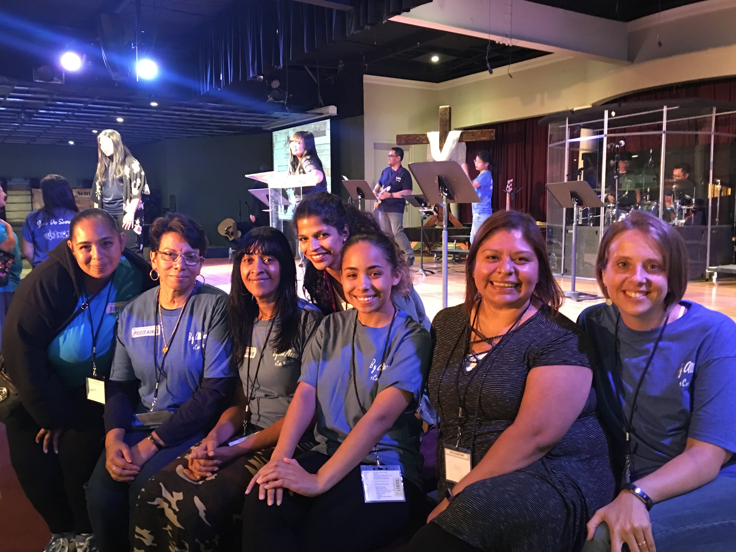 (from right) Kerri Johnson and JoAnn Lira (staff from Graffiti 2) along with Graffiti 2 Works artisans at the Just Do Something Event hosted by WMU of New York.