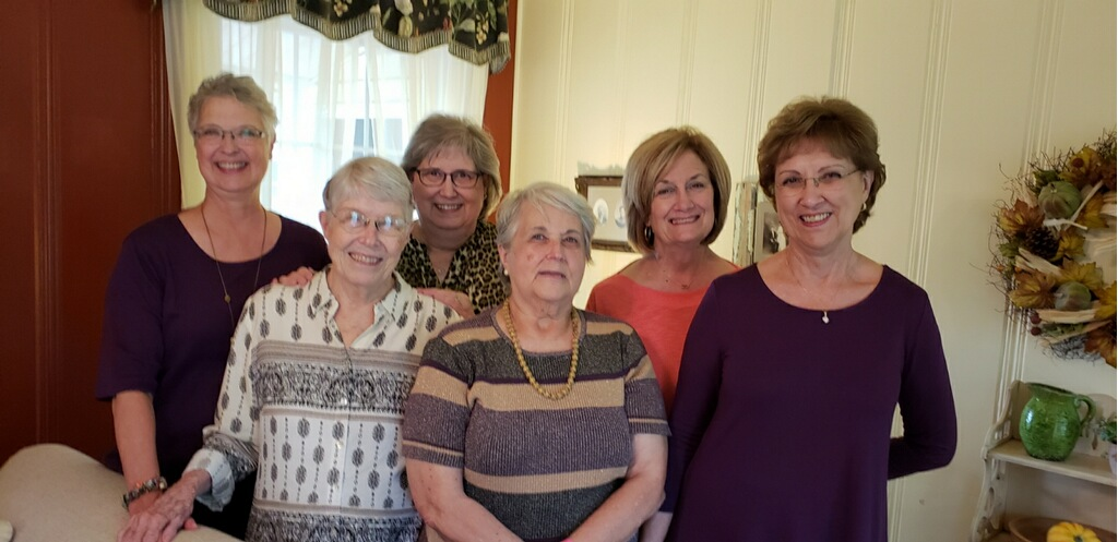 BACK ROW: Beth Campbell, Barbara Potter, Pat Cogburn  FRONT ROW: June Morris, Jeanette Nichols, Sue Giesecke