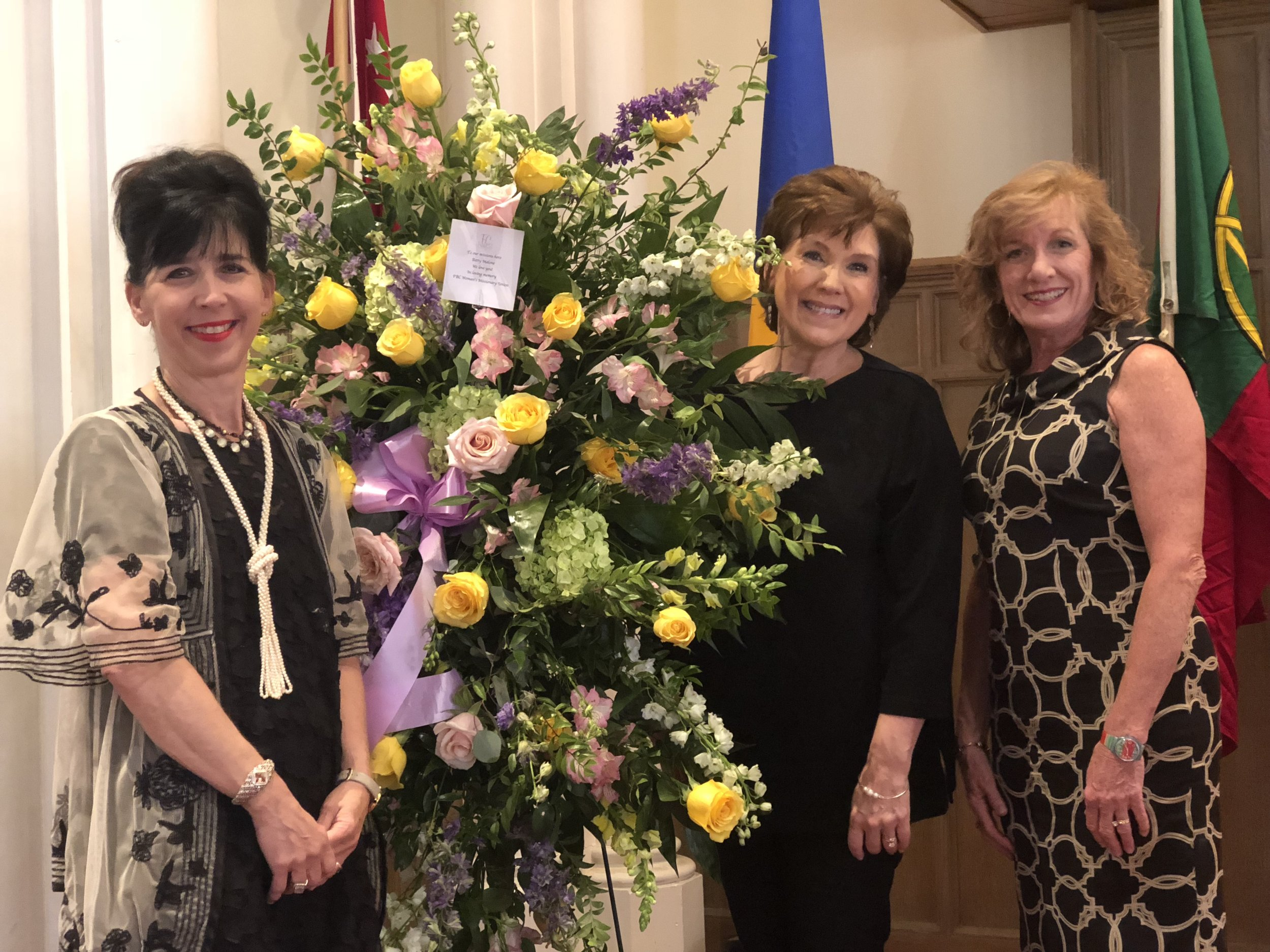 Cindy Townsend, center, remembers Betty Malone as a woman who prayed for the nations and supported missions throughout her life.