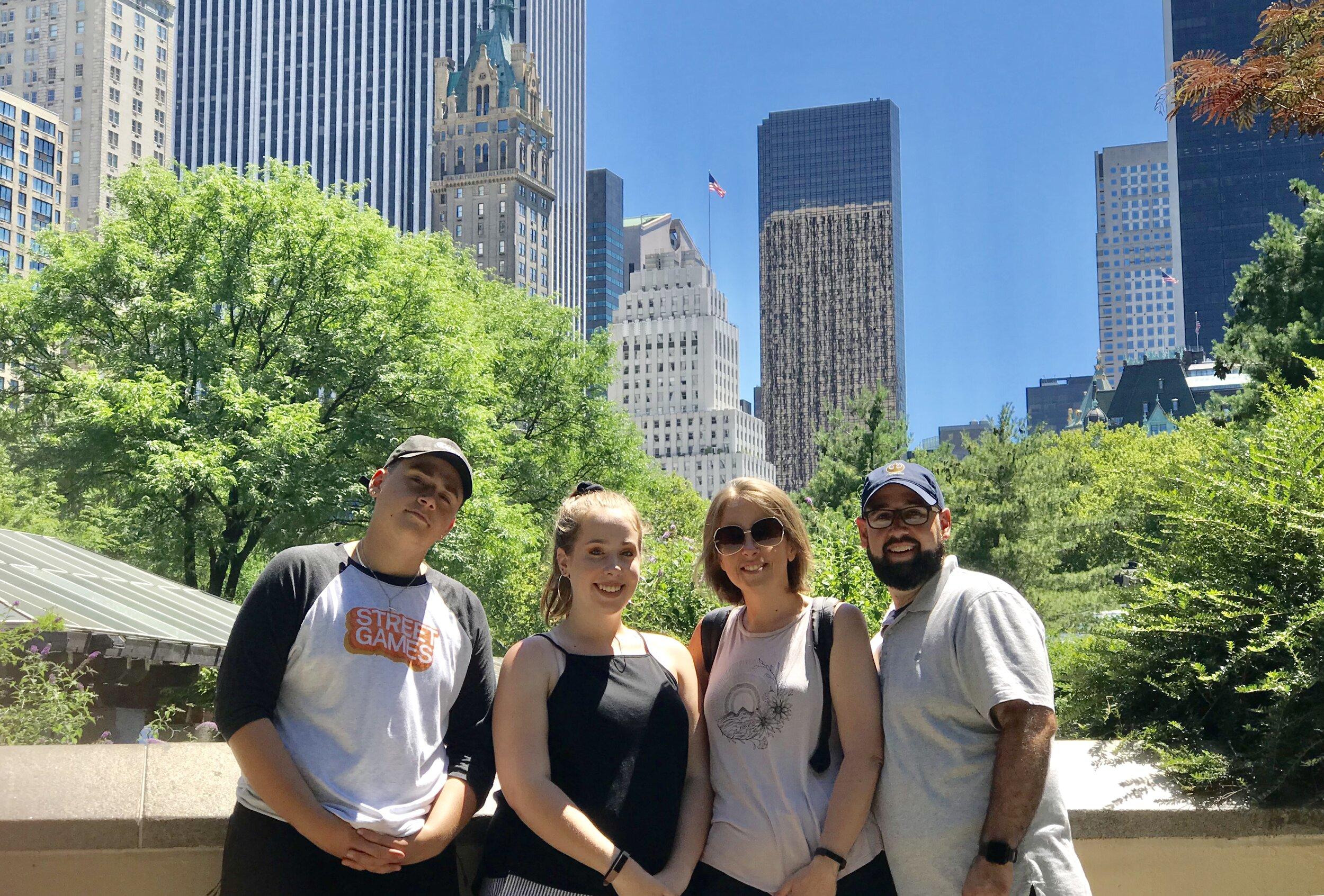 The Johnson family: Noah, Paige, Kerri, and Josh