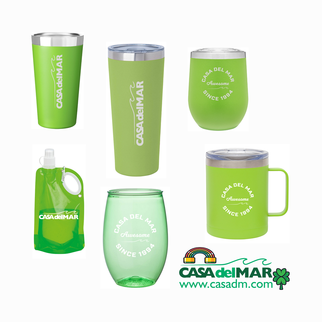 Drink Ware, St Patricks Day, Screen Printing, San Diego, Custom