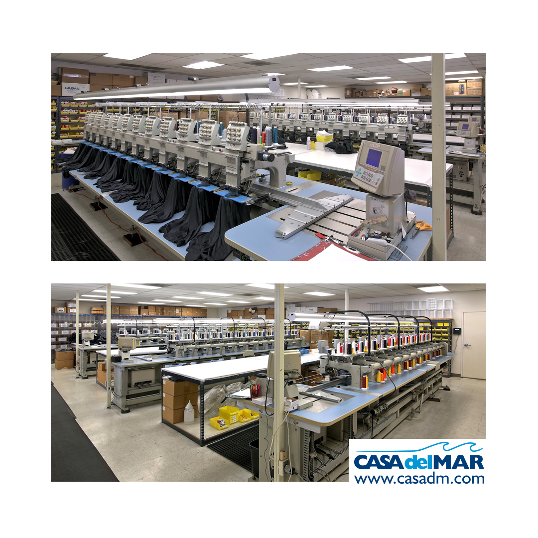 embroidery, embroidery machines, embroidered apparel, custom apparel, San Diego, Promotional products, employee appreciation