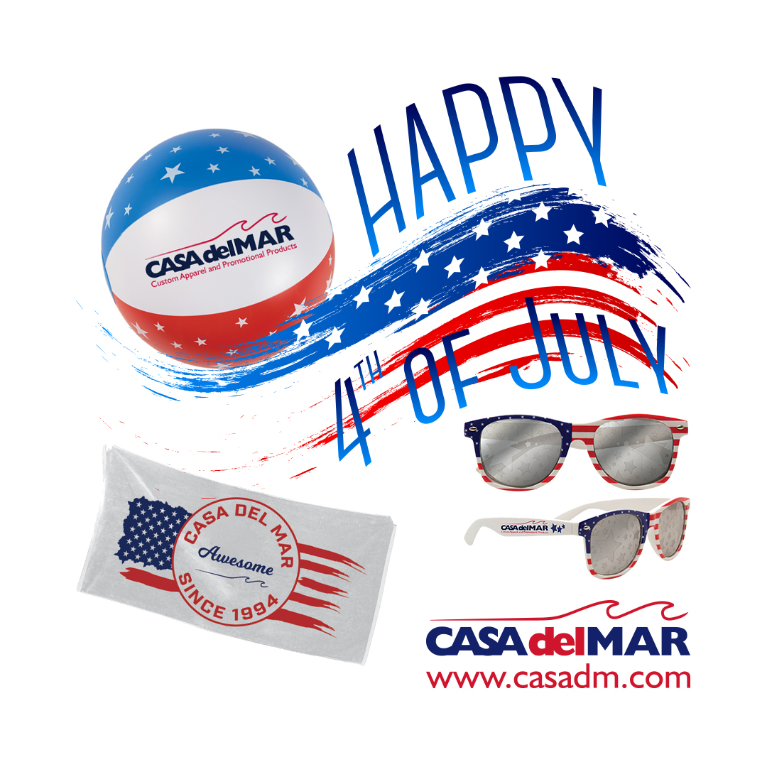 4th of July, Independence Day, Promotional Products, Custom Apparel, San Diego, Embroidery, Screen Printing