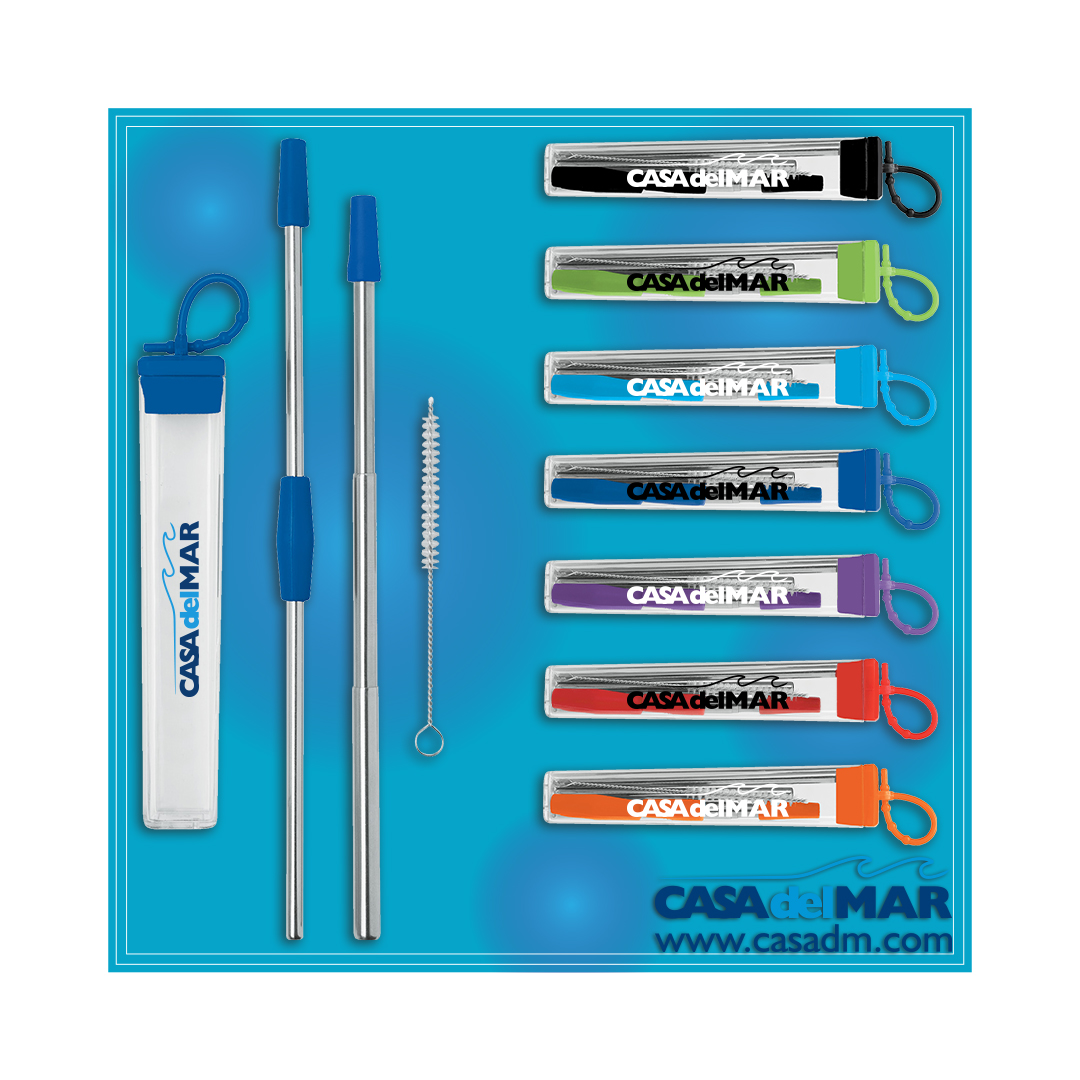 Reusable Straw, Reusable Straws, Straws, Stainless Steel, Eco Friendly, Reusable, San Diego, Promotional Products, California, Screen Printing, Trade Show Giveaways