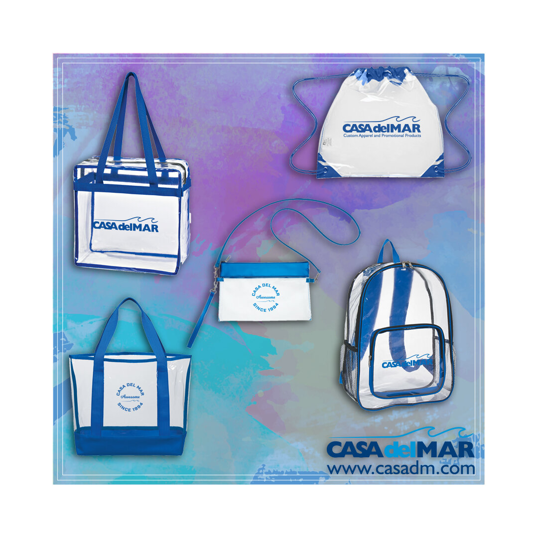 Clear Bags, Football Season, Branding, Backpacks, Clear, Promotional Products, Promotional Items, San Diego