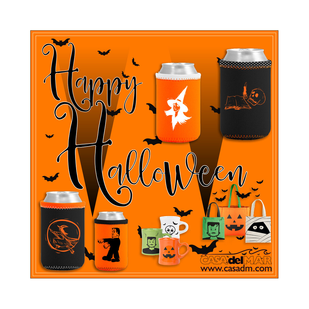 Halloween, Koozies, Can Coolers, Mugs, Tote Bags, Promotions Products, Swag