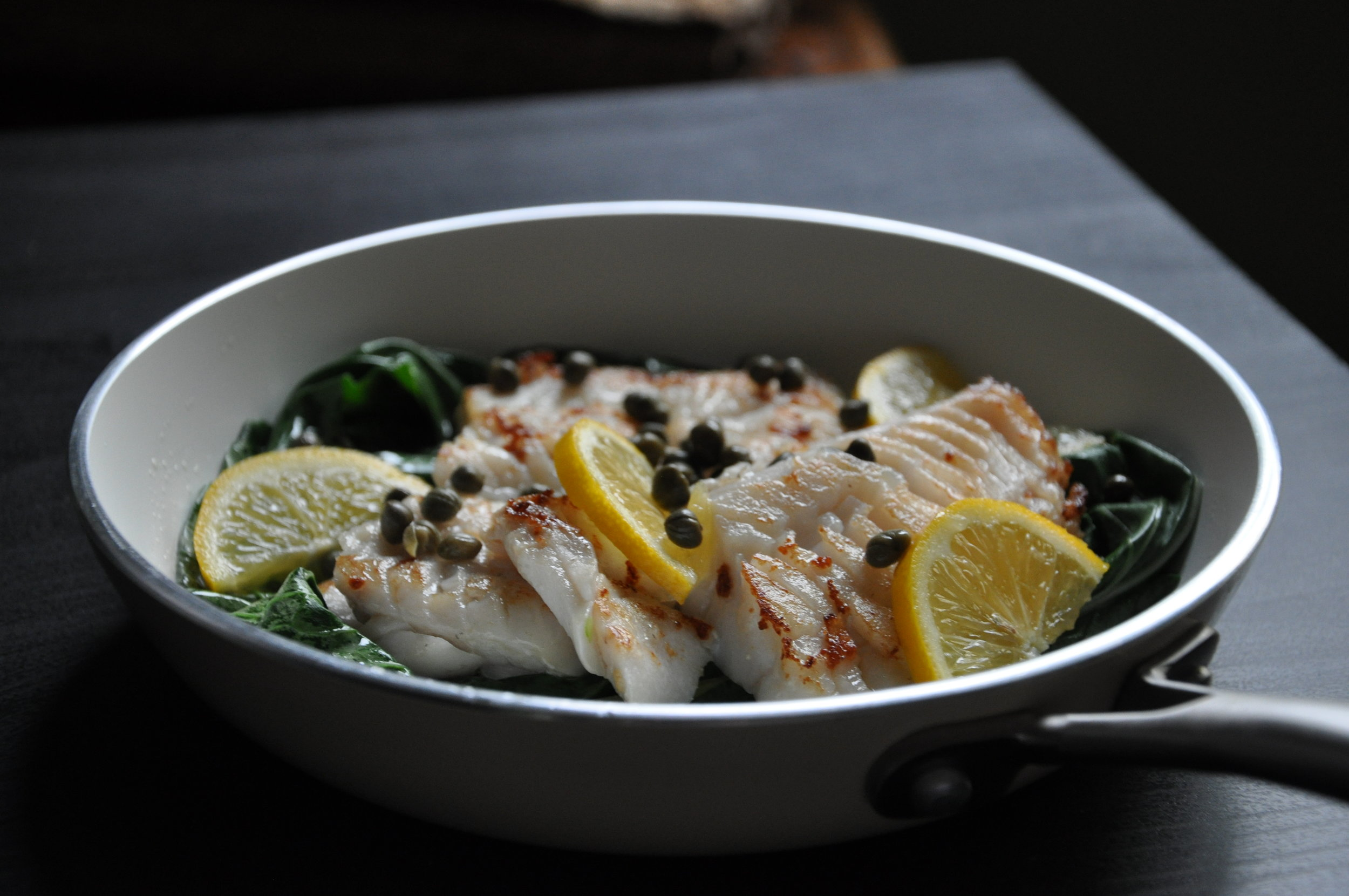 - MSC Haddock with capers & lemon