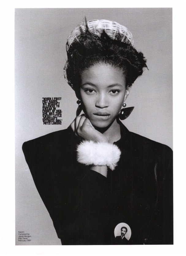 Naomi Campbell photographed by Jaimie Morgan for magazine Pitti Trend, February 1987