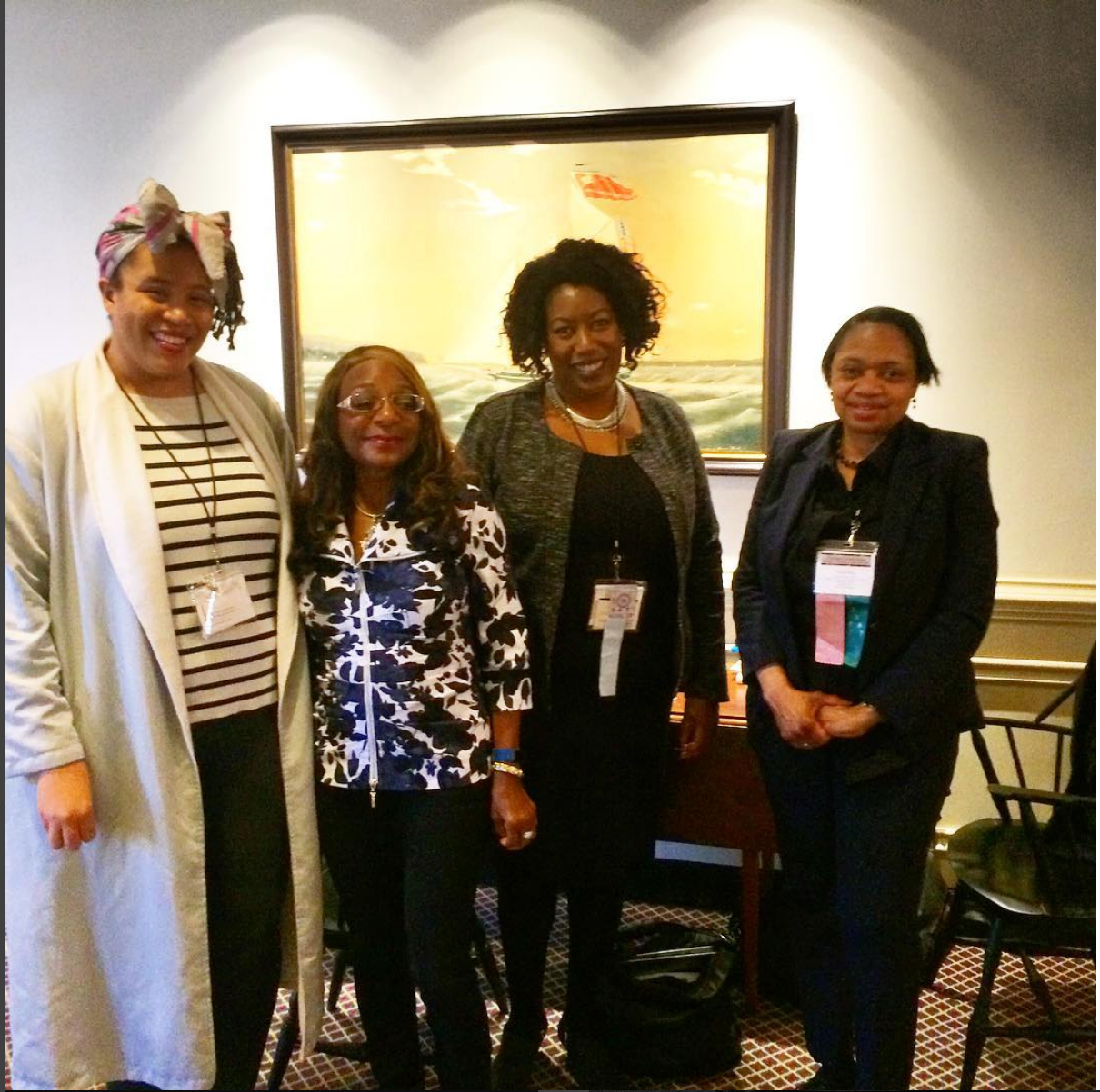 Joy with longtime CSA members representing Black Excellence