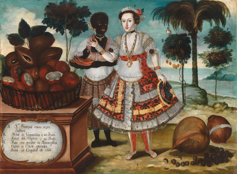 Vicente Albán, Noble woman with her black slave (Sra. principal con su negra esclava), 1783. Los Angeles County Museum of Art