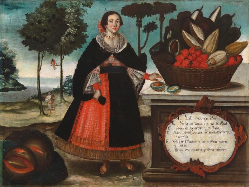Vicente Albán, Indian woman in special attire (India en traje de gala), 1783. Los Angeles County Museum of Art