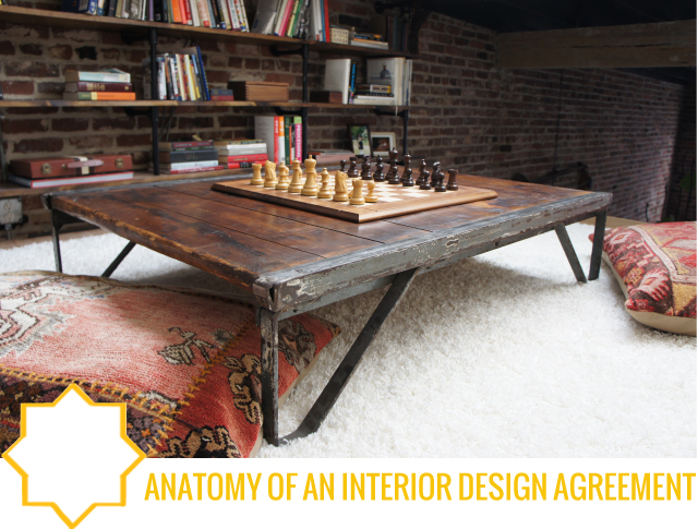 Anatomy of interior design agreement