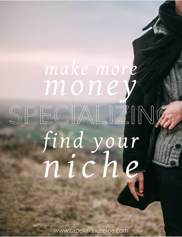 Yes!  You can make more money by specializing or working your niche in your interior design business.  Find yours today and discover that you don't have to only work with one type of project.  Learn why specializing gives you more freedom in business, not less