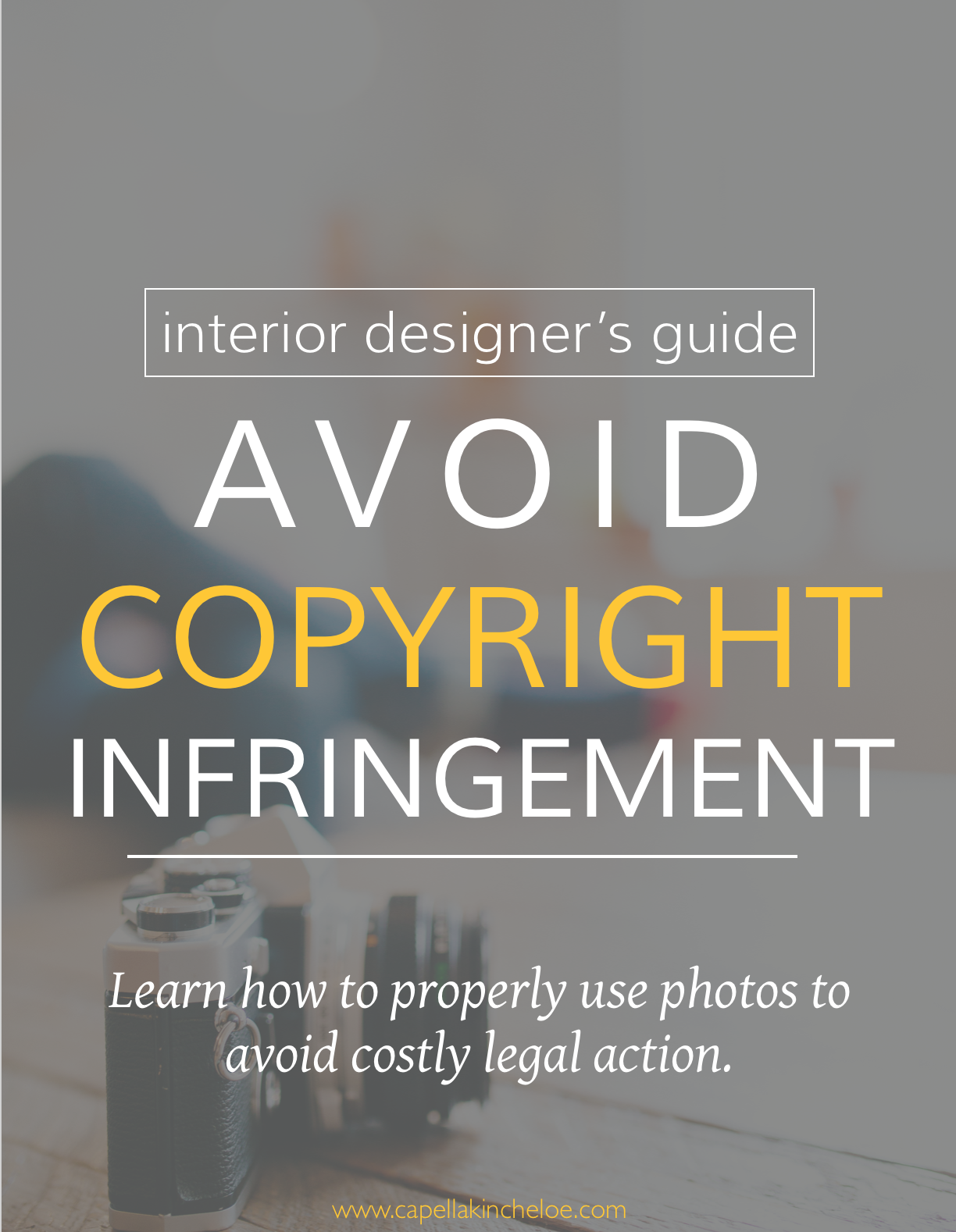 The interior designer's guide to avoiding copyright infringement.  Learn how to properly use photos to avoid costly legal action.