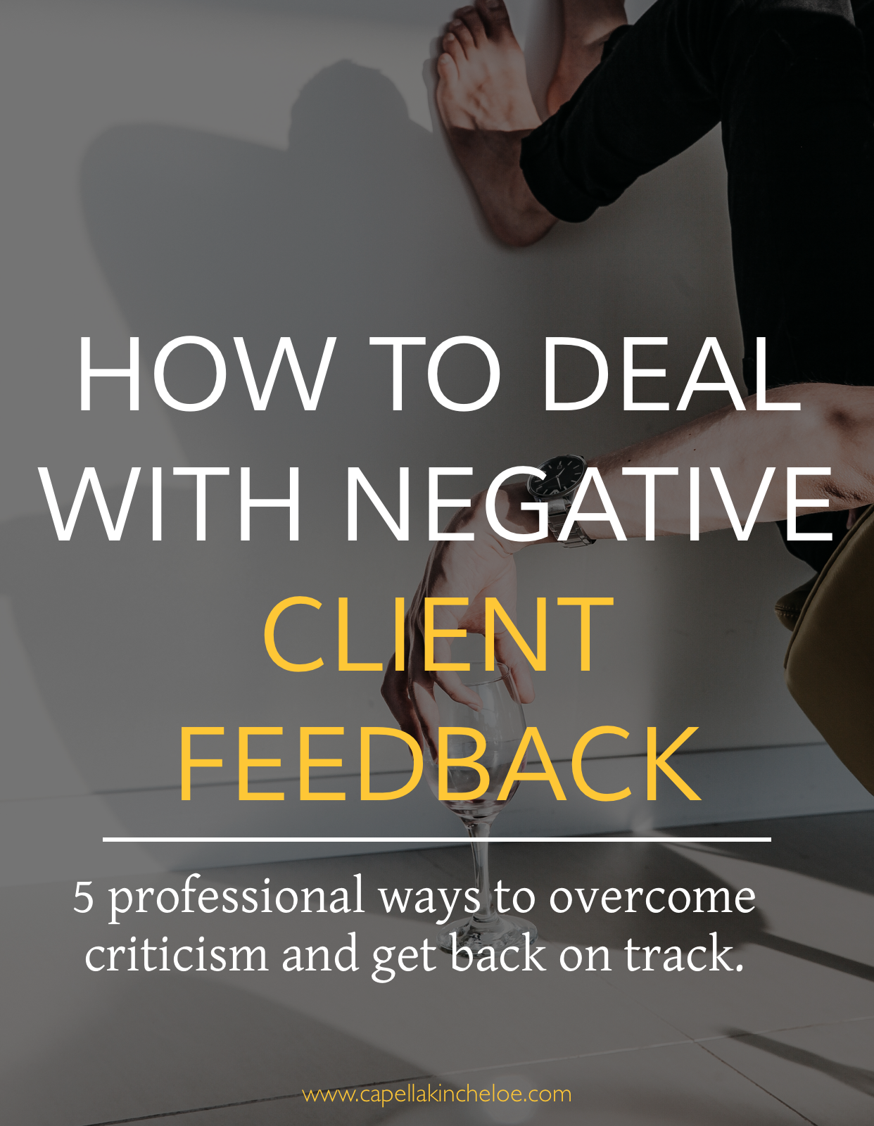 Don't let client criticism or negative feedback get you down.  Learn how to handle it the professional way!