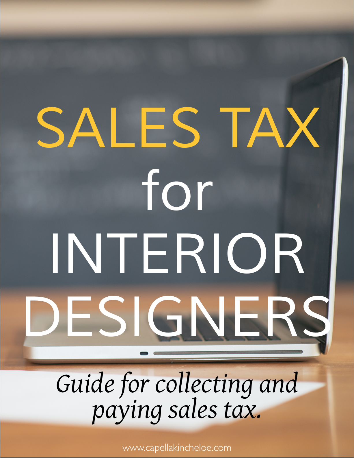 sales tax basics for interior designers.  Your guide for collecting and paying sales tax.