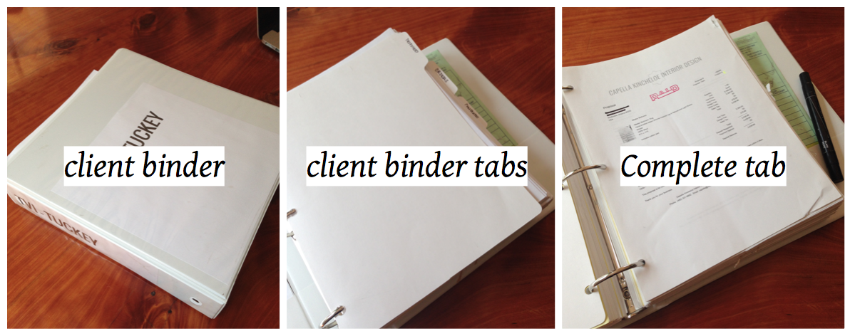 peek inside interior design client binder project management