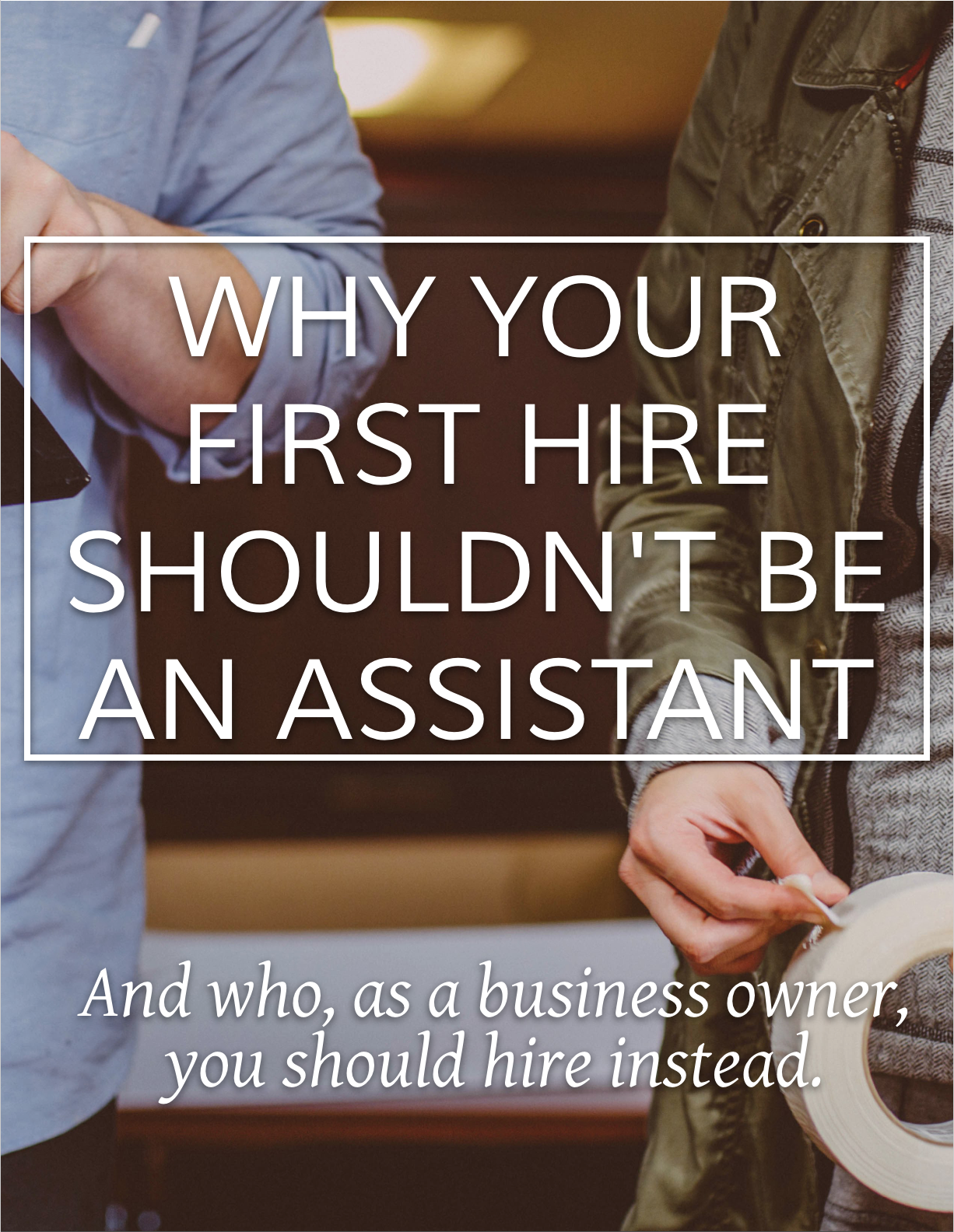 Your first instinct as an interior design business owner is to hire an assistant when things get busy, but that may not be the best move for your business. Find out who to consider hiring before an assistant.