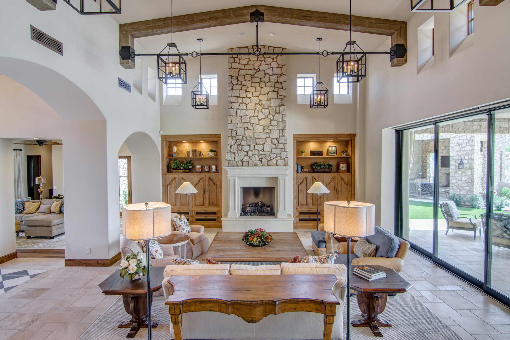 Arizona Great Room interior design by J White Designs